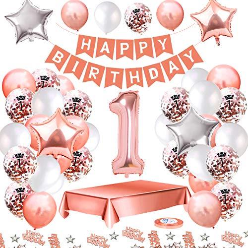MMTX Globos De Cumpleaños 1 Años Feliz Cumpleaños Decoracion (1)
