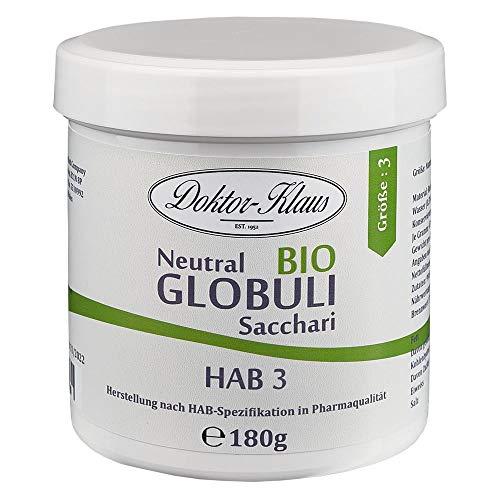 BIO Neutral Globuli Doktor-Klaus 180g Grösse HAB 3, 100% reine Saccharose inÖko-Tüte