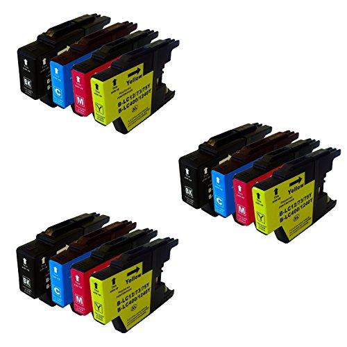 Bramacartuchos - 12 X Cartuchos compatibles Brother Lc1220XL, Lc1240XL, Lc 1240Xl, LC 1220XL NON OEM, Brother DCPJ525W, DCPJ725DW, MFC J430W, MFC J625DW, MFC J825DW, MFC J5910dw, MFC J6510DW, MFC J6710DW, MFC J6710, MFC J6910DW