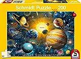 Schmidt Spiele-Nuestro Sistema Solar, Puzzle Infantil de 200 Piezas, Color carbón (56308)
