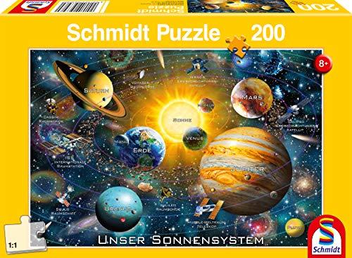 Schmidt Spiele Puzzle 56308 Unser Sonnensystem, 200 Teile Kinderpuzzle, bunt