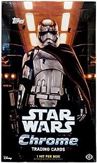 2016 Topps Star Wars The Force Awakens CHROME Hobby Box - 24 packs of 6 cards!