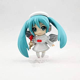 Lupovin Figura de acción de 8cm Animado Vocaloid Nendoroid Petit Hatsune Miku Christmas Angel Piano Pastel Ver PVC 1/10 Escala Modelo Toy Collection