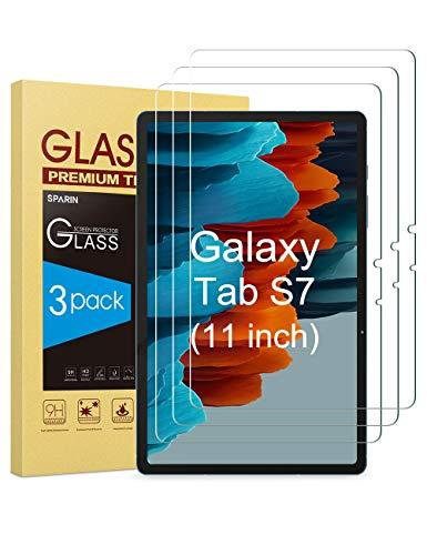 SPARIN (3 Stück Panzerglas Schutzfolie für das Neue Samsung Galaxy Tab S7 11 Zoll 2020, Einfach Instalisieren, Anti-Kratzer, Bläschenfrei für Samsung Galaxy S7