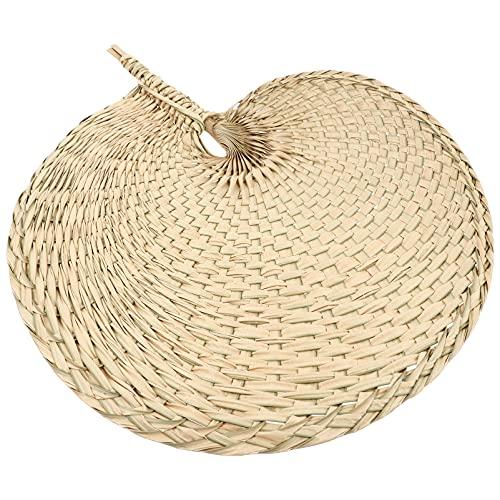 DOITOOL Abanico de mano de ratán decoración fiesta abanico boda mujer hoja de palma abanicos para verano hogar barbacoa estilo 1