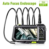 Anykit Industrial Endoscope Autofocus Inspection Camera, Borescope VideoScope with 5 Inch, 1280x720 HD IPS...