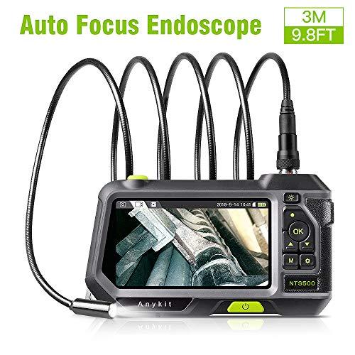 Anykit Endoskop, Hand Endoskopkamera Automatische Fokussierung mit 5,0-Zoll-1080P-HD IPS LCD, Eingebaute 3500-mAh-Akku, 14,5 mm Durchmesser IP67 Wasserdichtes Inspektionskamera (9.8ft)