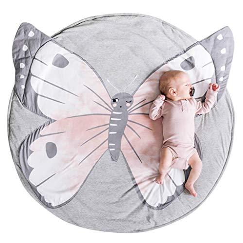 Alfombra Infantil, alfombra de juego suave y transpirable para alfombra redonda con forma de animal lindo Alfombrilla de arrastre para la decoración de la habitación de los niños - 90x90 cm