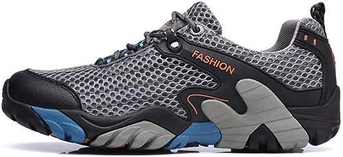HYLFF Chaussures de randonnée Homme, Chaussures de randonnée en Plein air Léger baskets Chaussure de Sécurité Chaussures de Travail