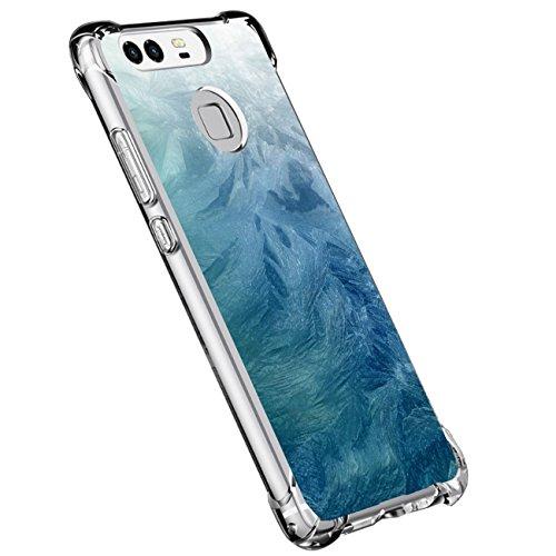 Beryerbi Funda para Huawei P9,Funda Transparente Silicona TPU Cover Mármol Linda Patrones Ultra Delgado Anti-Choque Anti Rasguños Bumper Protectora Caso Airbag para Huawei P9 (13, Huawei P9)