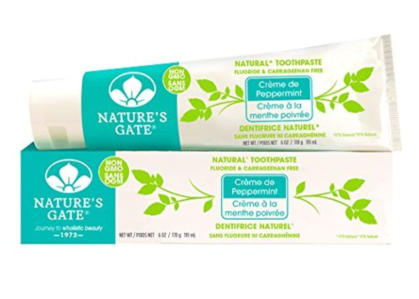 引く不適切なカストディアンNature's Gate Natural Toothpaste, Creme de Peppermint, 6-Ounce Tubes (Pack of 6) by Nature's Gate [並行輸入品]