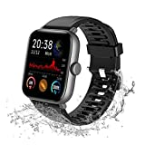 """Lucky-M Smart Watch, 1.54"""" Touch Screen Smartwatch for iOS Android, Fitness Tracker Waterproof"""