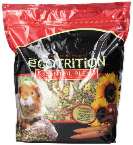 Ecotrition Essential Blend Food For Guinea Pigs, Resealable Bag, 5 lbs