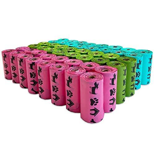PET N PET Lavender Scented Dog Poop Bag 720 Counts Rainbow Muliti Color Dog Poop Bags Refill Rolls Standard and EPI Additive Dog Waste Bags (Misc.)