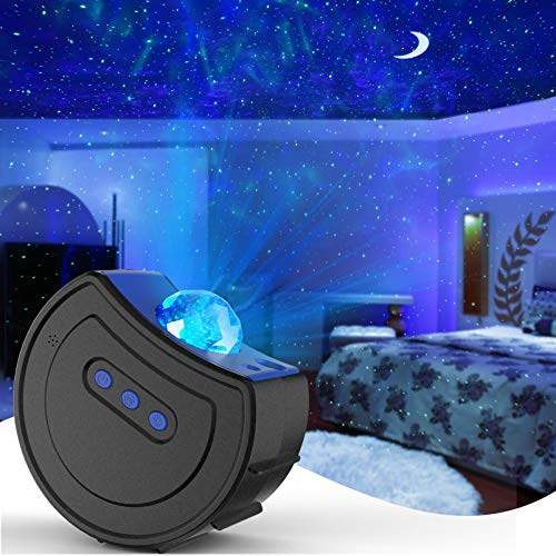 Star Projector Galaxy Night Light Projector Hisome Moon Sky Light for Bedroom Ceiling, LED Starlights Starry Night Light Planetarium Nebula Cove Projector for Kids and Adults Party Birthday Wedding