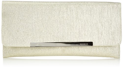 Menbur Gove 83406, Damen Clutches, Gold (Light Gold 00), 30 x 15 x 4 cm (B x H x T)