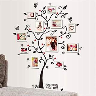 Qiekenao - Adhesivos decorativos para pared, diseño de árbol fotográfico, plástico PVC