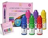 GoodBake Lebensmittelfarbe, 6 Farben Set, hochkonzentriert & zuckerfrei, hochpigmentiert, Schleim,...