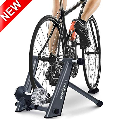 HEALTH LINE PRODUCT Indoor Fluid Bike Trainer, Stationary Exercise Cycling Heavy Duty Portable Stand, Fit 26-29