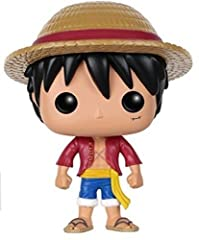 From the hit anime One Piece, Luffy, as a stylized POP vinyl from Funko! Stylized collectable stands 3 3/4 inches tall, perfect for any One Piece fan! Collect and display all One Piece and anime Pop! Vinyls!
