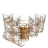 6er Set Latte Macchiato Glas 39cl stapelbar Coffee Dekor -
