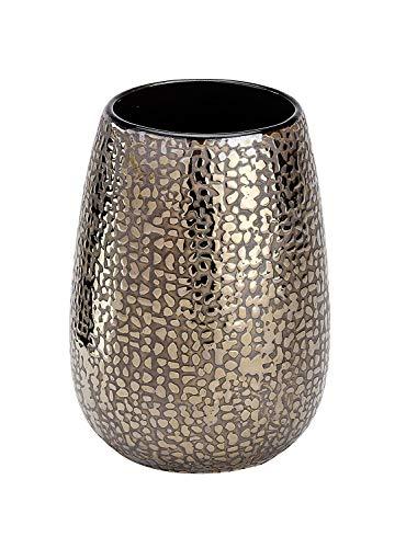 Wenko Marrakesh Vaso para Cepillos De Dientes, Cerámica, Marrón, 8.3x8.3x275 cm
