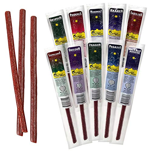 Exotic Meat Snack Sticks by Mythical Meats - Snack Pack of...