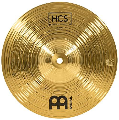 Meinl Cymbals HCS 10 Zoll (25,4cm) Splash Becken für Schlagzeug – Messing, traditionelles Finish (HCS10S)