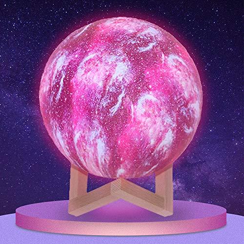 LED Mond Lampe 10cm 3D Mondlampe Mit Fernbedienung Touch Steuerung,16 Farbe Mondlicht Nachtlicht Für Geschenke Schlafzimmer Dekor Moon Light USB Wiederaufladbar