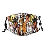 Hunde Bunte Mode waschbare Anti-Staub-Maske Gesichts-Mund-Maske, Mode Wiederverwendbare waschbare Outdoor-Unisex-Maske