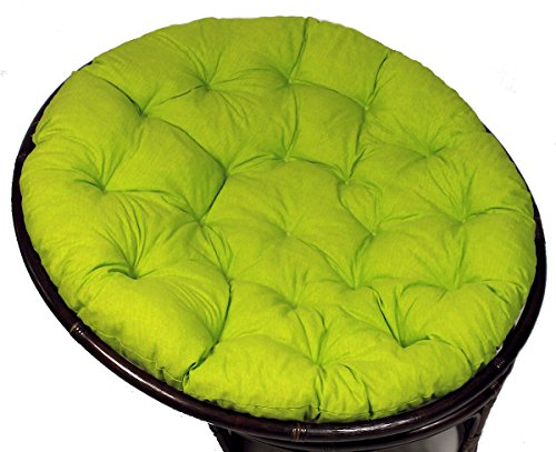 Rattani - Polster für Papasansessel, Auflage, Ersatzpolster Papasan D 130 cm, Stoff Loneta hell grün, Made in EU