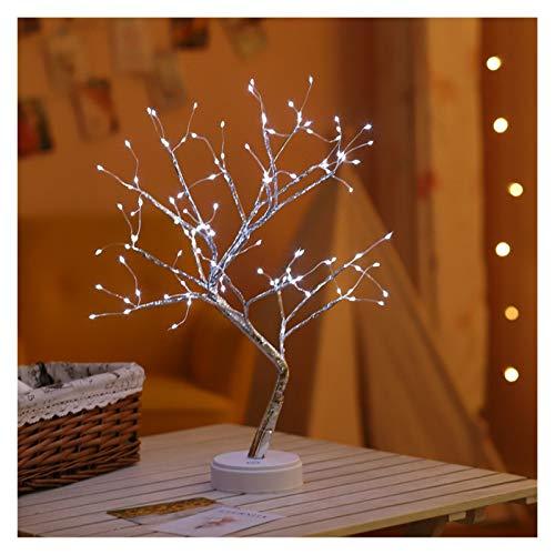 YYOMXXOM Luz de Noche LED Mini árbol de Navidad Alambre de Cobre Lámpara de Guirnalda para hogar para niños Decoración de Dormitorio Luces de Hadas Luminaria Iluminación de Vacaciones