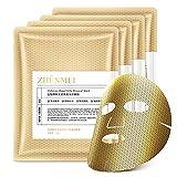Masques pour le visage Soins de la peau, Feuille de masque facial cellulaire, Fullerene infusé et extrait de gelée royale, anti-âge, réduit les ridules, anti-rides, hydratant 10 PCS