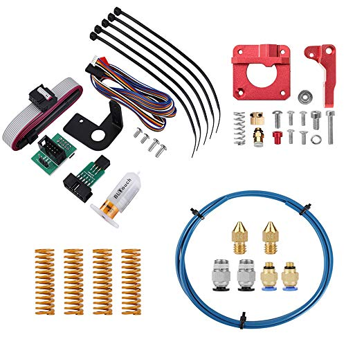 Offical Creality Upgrade BLTouch V1 Auto Bed Leveling Sensor Kit for Creality Ender3/Pro/Ender5/CR-10 with Capricorn PTFE Bowden Tubing 1M,MK-8 Extruder Feeder Drive, 0.4mm Nozzle, PC4-M6/M10 Fittings