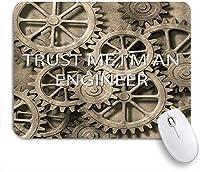 EILANNAマウスパッド 自転車ホイールオーシャンマリンアンカーギアTrust Me私はエンジニアです ゲーミング オフィス最適 高級感 おしゃれ 防水 耐久性が良い 滑り止めゴム底 ゲーミングなど適用 用ノートブックコンピュータマウスマット