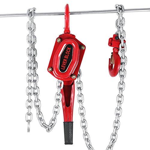 Happybuy 3Ton Lift Lever Block Chain Hoist 5FT Ratchet Puller Hoists (5FT)