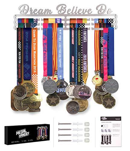 Race Medal Display Running Medal Hanger Display Marathon Medal Display Case Holds Max 50 Medals Elegant Medal Holder for Wall Display Gifts for Runners Men Women Girls Baseball Soccer Softball