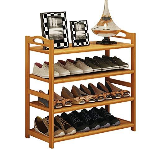 ZAIHW Zapatero de bambú para Almacenamiento en el vestíbulo del hogar Caja de Zapatos de 4 Niveles a Prueba de Polvo para Pasillo, Sala de Estar, Dormitorio (tamaño: 68 * 26 * 68 cm)