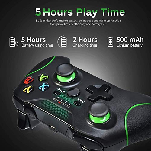 Xbox Wireless Controller PC Game Controller 2.4GHZ Wireless Game Controller Compatible with Xbox One/One S/One X and PC with Built-in Dual Vibration