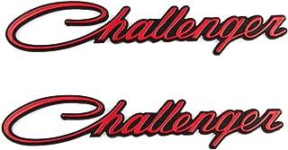 2x Challenger Emblems Nameplate Badges Decal Fit For Chrysler Mopar (Red-black)