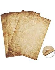 60 arkuszy papier listowy stary papier vintage Absofine Alt Casanova średniowieczny papier listowy DIN A4 obustronny 100 g