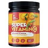 Súper Vitamina C en Polvo (Sabor a Naranja) - 1000mg de Vitamina C + Zinc, Vitamina D, B12 y Selenio - 100 porciones, 500 gramos