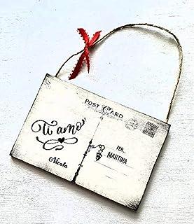 San Valentino - Cartolina in legno personalizzata - Idea regalo - Ti amo