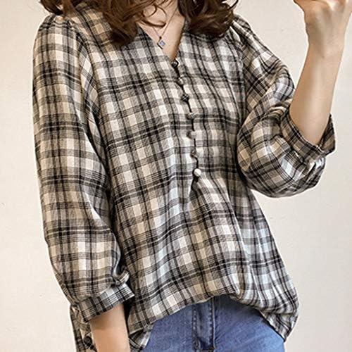 TUDUZ Blusas Mujer Manga Corta Verano Camiseta Manga Farol ...