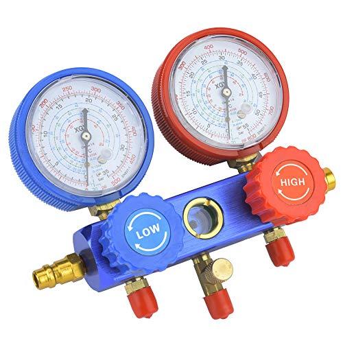 Conjunto de válvulas de medidores de coletor, ar condicionado multifuncional profissional, para casa de trabalhador de manutenção