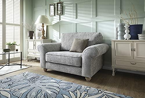 Abakus Direct   Ingrid 3- oder 2-Sitzer-Sofa-Set, Sessel, Kuschelsessel in Chenille Aschgrau (Kuschelstuhl)