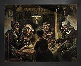 1art1 Vincent Van Gogh Póster Impresión Artística con Marco (Madera DM) - Los Comedores De Patatas, 1885 (50 x 40cm)