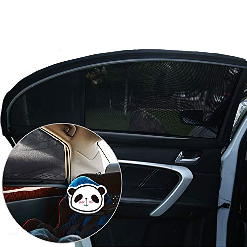 Wildlife Extra Dark with Certified UV Protection Systemoto Car Window Shades for Baby Set of 2 Self-Adhesive Sunshades for Kids