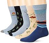Goodthreads 5-Pack Patterned Socks Casual, Paquete de cactus, Talla única, Pack de 5