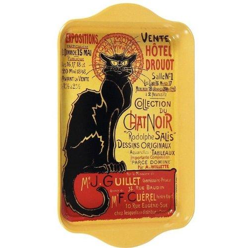 35 x 10 x 2 cm Cartexpo TT850 Drouot Black Cat Metal Thermometer